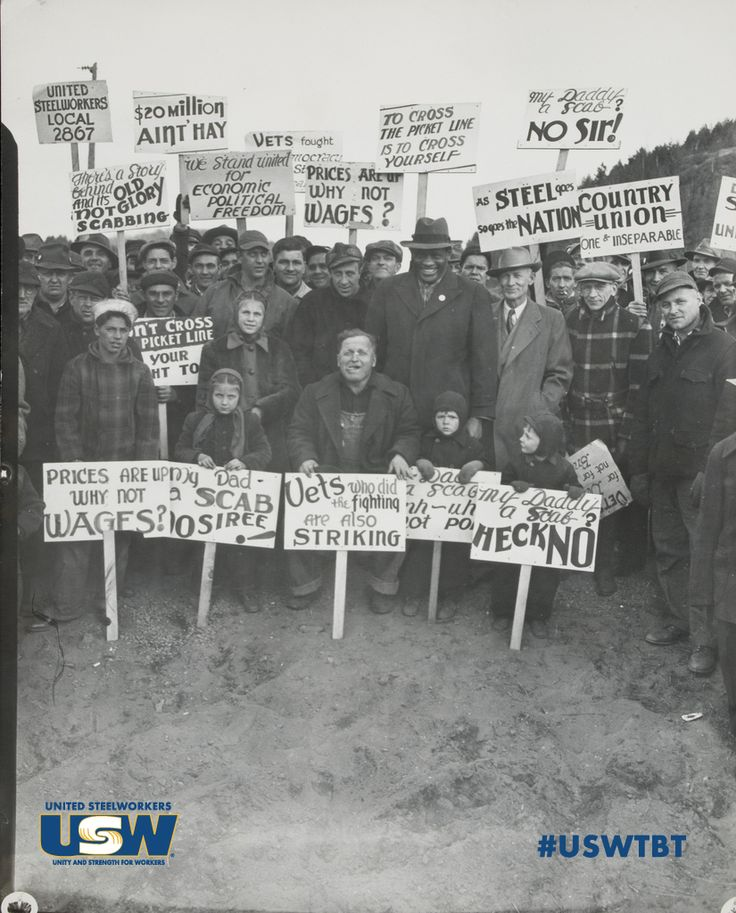 #ThrowbackThursday: In the early 1950s, #Steelworkers on strike during the Korean War gained national attention because of the need for continued steel production. Pictured are striking members and their children in 1952.  If you have #USW history, share it with us! Email your stories, pictures and videos to newmedia@usw.org. Your submission could be used in an upcoming #USWTBT post!