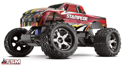 This is the 1/10 scale 2.4GHz radio controlled, Ready To Run Traxxas Stampede VXL Brushless Motor Powered Off-Road Monster Truck