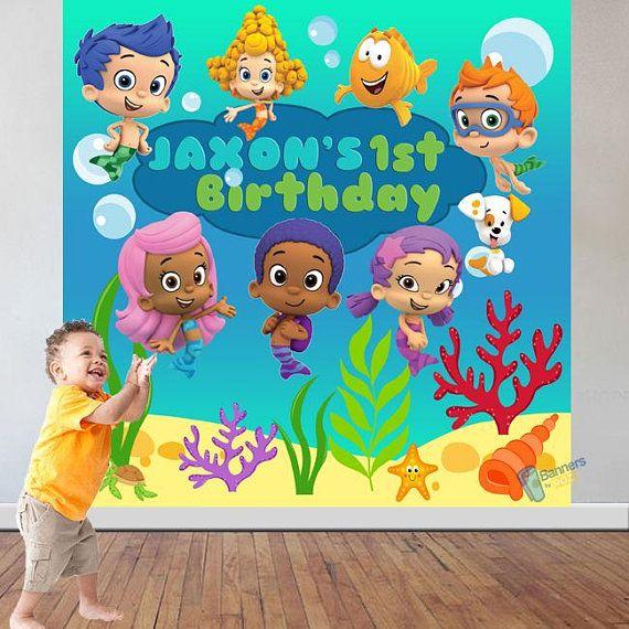 Bubble Guppies Birthday Party Backdrop Personalized Birthday Etsy Bubble Guppies Birthday Party Bubble Guppies Party Bubble Birthday Parties
