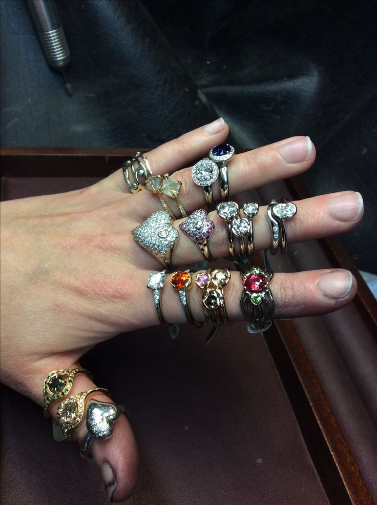 A fistful of bling Engagement rings