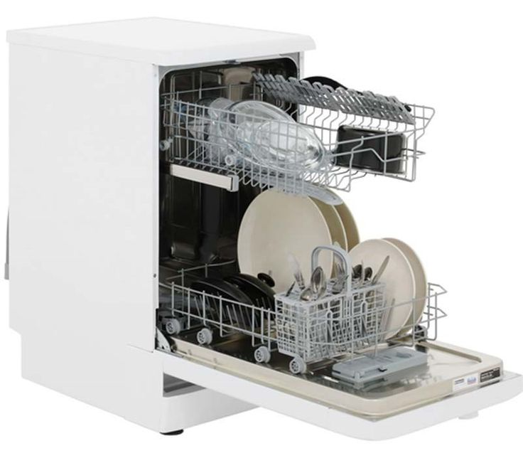 Hotpoint SIAL11010P 10 Place Freestanding Slimline Dishwasher - White | Appliances Direct