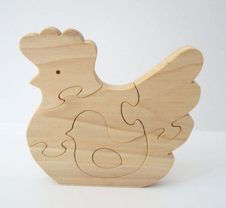 wood chicken puzzle country home decor farm animal puzzle. Black Bedroom Furniture Sets. Home Design Ideas