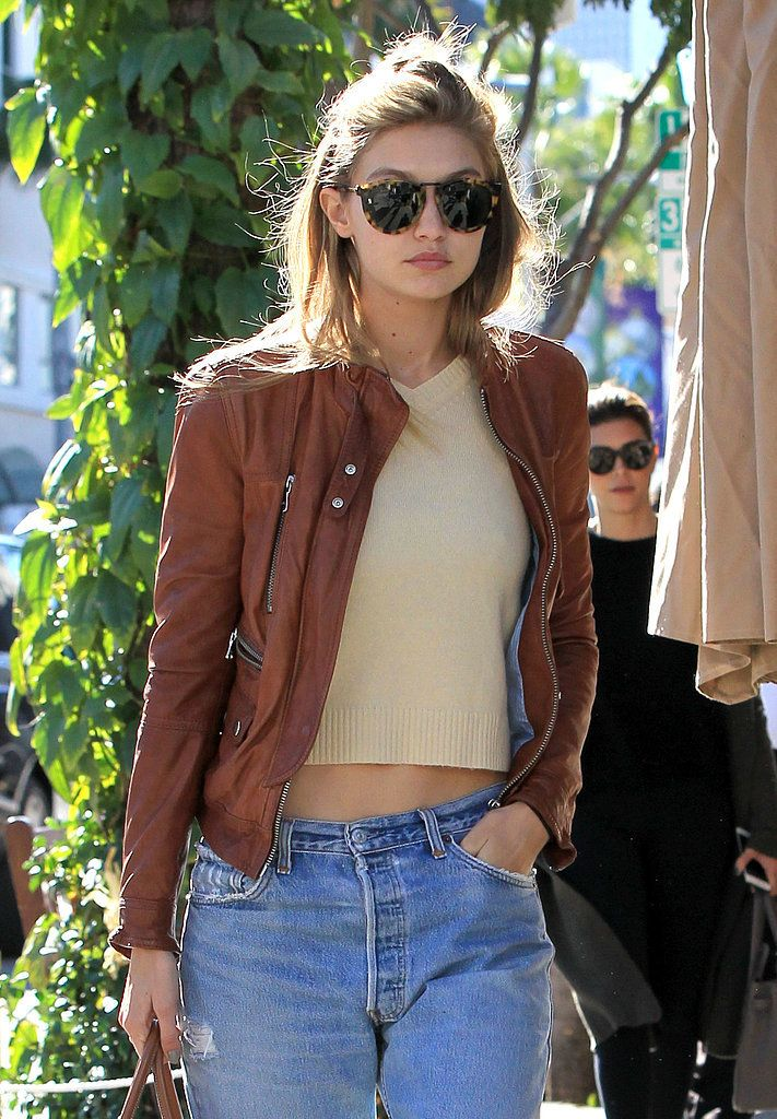 In Gigi's case, it was a brown leather jacket, which added a little something extra.