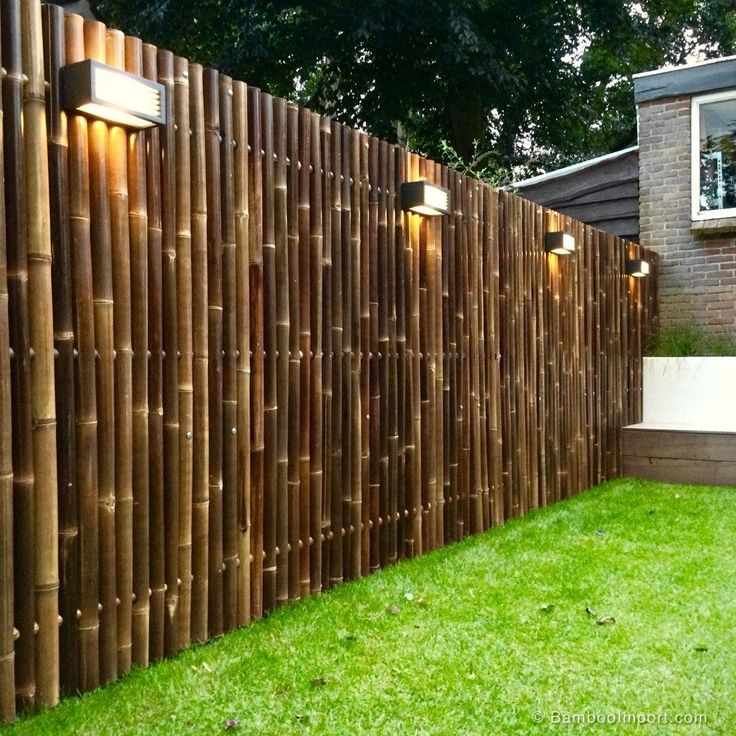 Black Bamboo Fence Panel Giant 180 x 180 cmbamboo black