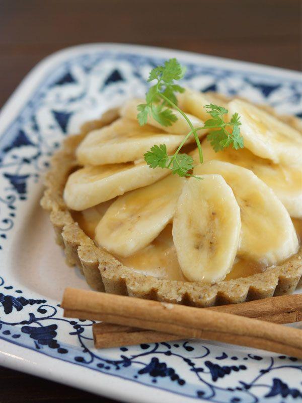バナナクリームロータルト ~カシアキャラメル風味~  エッセンシャルオイルカシアを使ったアロマロースイーツです。