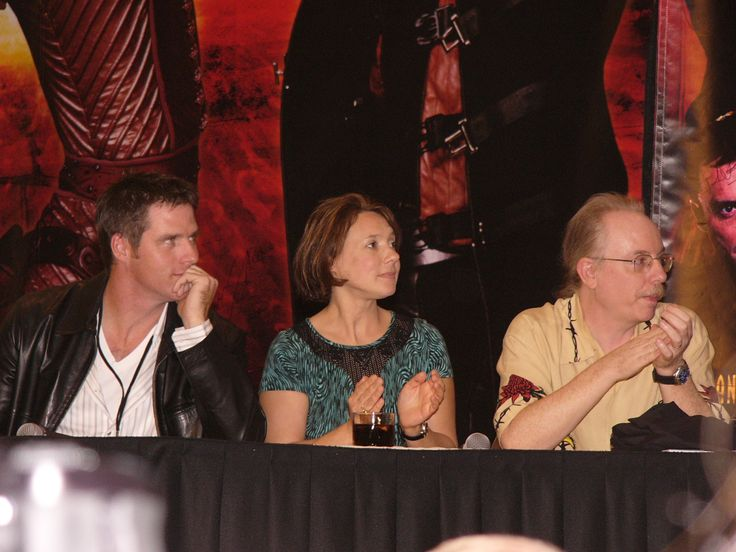 Farscape Convention 2003 -- Ben browder,Francesca Buller, and Ricky Manning judging talent contest.