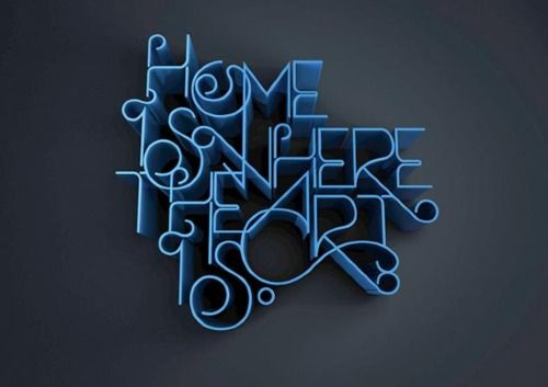 Wall Decor, Types Design, Graphics Design, Art Show, Colors Blue, Art Is, Writing Letters, Inspiration Art, Typographic Design