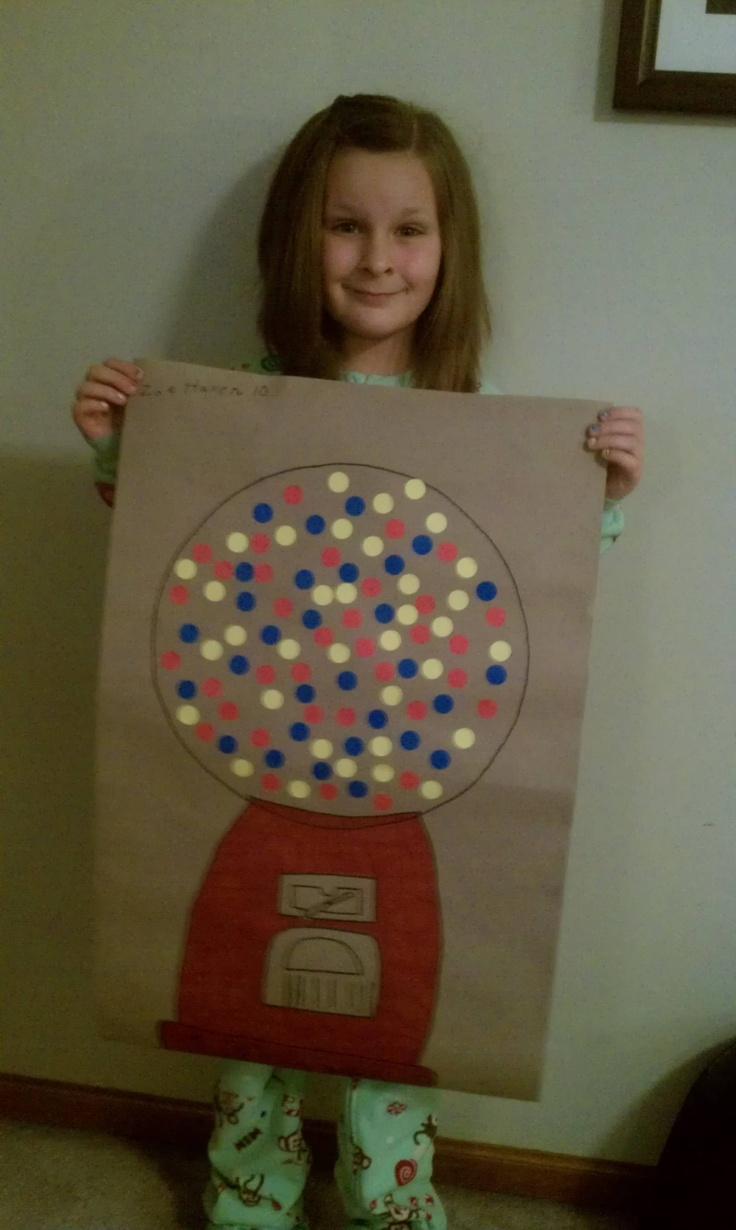100 day project for school. I think Savannah has one more year to celebrate this, then they will all be too old :-(