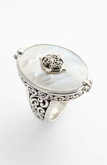 Lois Hill Large Mother-of-Pearl Cocktail Ring available at #Nordstrom