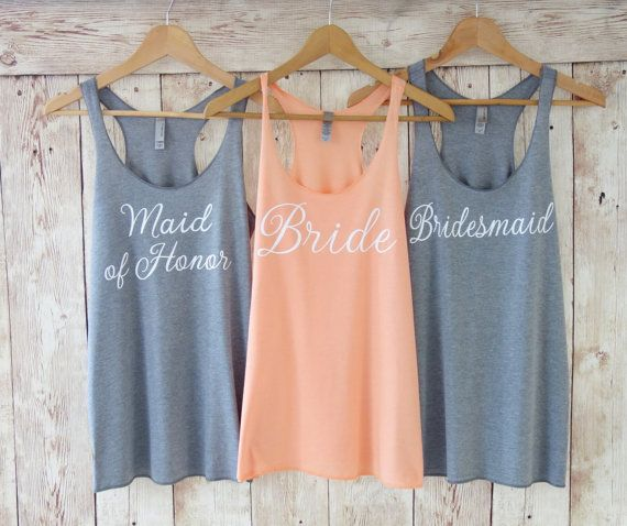 Wifey Tank Top. Bridesmaid Tanks. by TheLittleBridalShop on Etsy