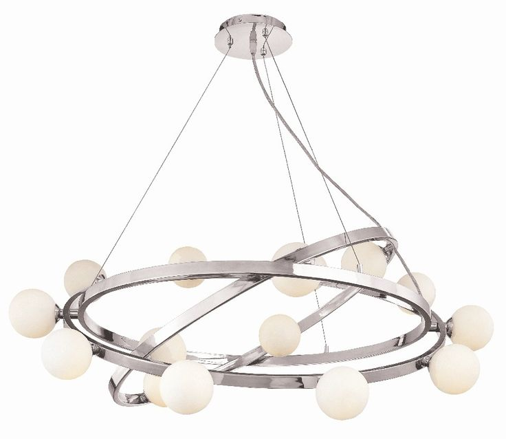 Access Lighting Nitrogen 15 Light Cable Articulating Chandelier with Opal Glass & Reviews | Wayfair