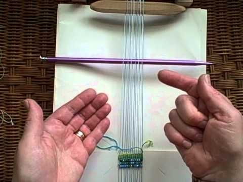 A pin a stick and a loop of string by Noreen Crone-Findlay. This video tutorial by Noreen Crone-Findlay shows how to use a weaving stick, a string heddle (loop of string) and a kilt pin to make shedding devices for a loom that doesn't have built in ways of opening the sheds.