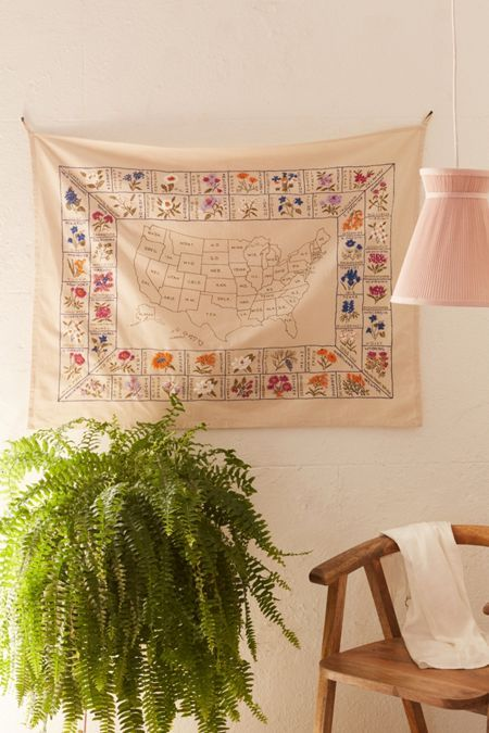 Specimen Reference Flag Tapestry In 2020 Flower Tapestry