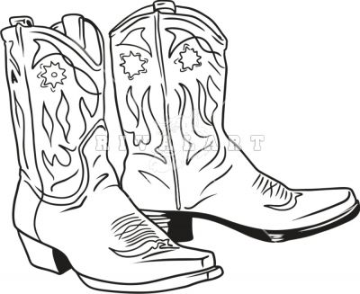 DRAWINGS OF COWBOY BOOTS | All For Wedding