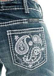 Paisley Bling Jeans by Cowgirl Tuff Company