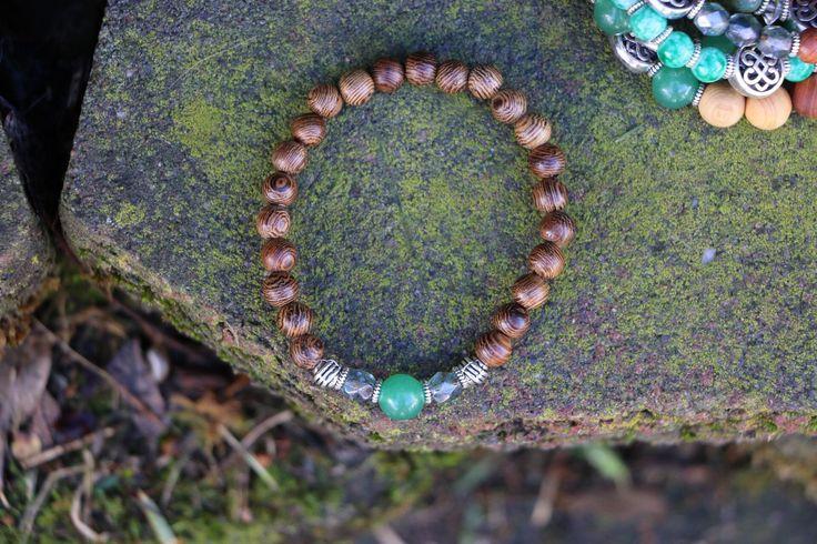 Green Adventurine & Crystal Diffusee Bracelet