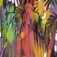 Amaya Salazar es una pintora y es de la Republica Dominicana.  Ella tiene pinturas de personas sin caras.