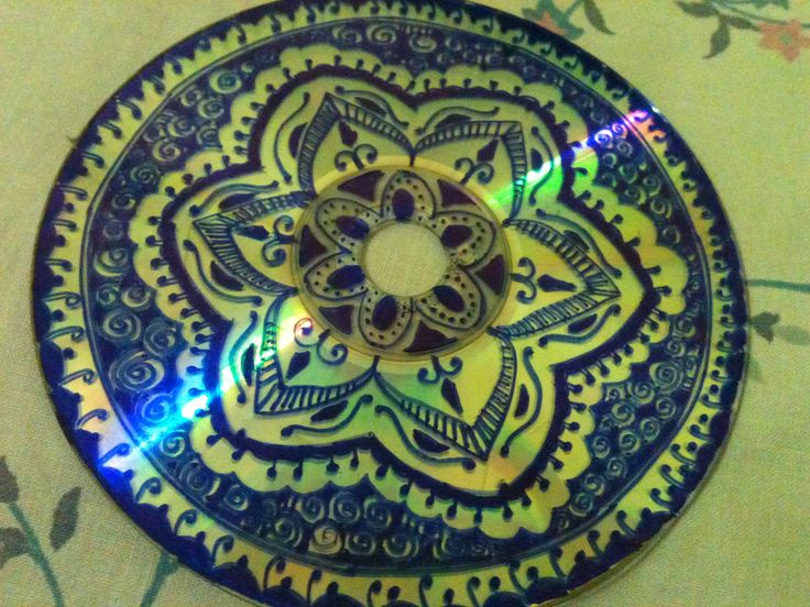What a cool idea to recycle your old CD's they'd look cool on the wall to  ---- maybe a border around the soffit