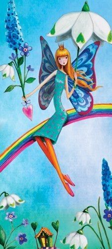 Girl on rainbow close-up of artist Illustration by www.MilaMarquis.com and www.Facebook.com/MilaMarquisillustration