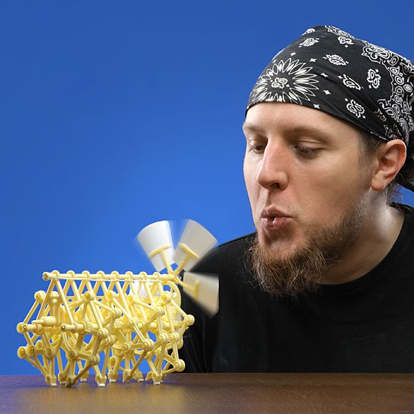 Mini-Strandbeests, wind-powered kinetic sculptures created by Dutch artist Theo Jansen - ThinkGeek