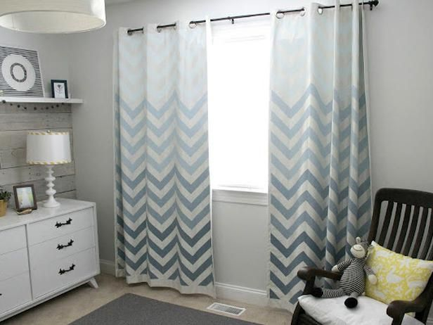 8 Things You Didn't Know You Could Paint: Idea, Boys Nurseries, Grey Boys Bedrooms, Shower Curtains, Wood Wall, Diy, Chevron Curtains, Ikea Curtains, Chevron Stripes