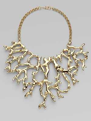 Ooo...great statement piece for a beach outfit $250 Kenneth Jay Lane's Branch Bib Necklace