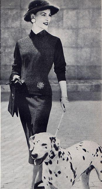 Dalmatian Fashion Hound 1955, via Millie Motts.