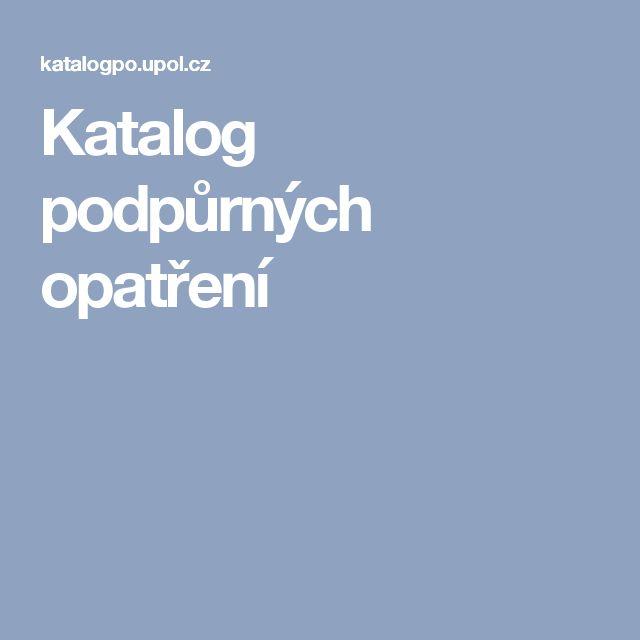 Katalog podpůrných opatření