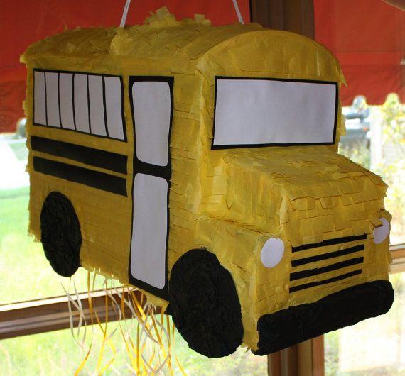 School Bus Piñata by PinataQueen on Etsy, $55.00