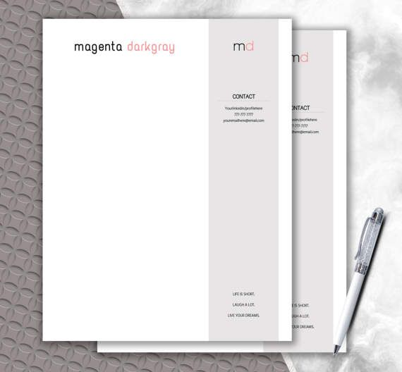 Letterhead Template  Monogram  Letterhead Design by DocumentFolder