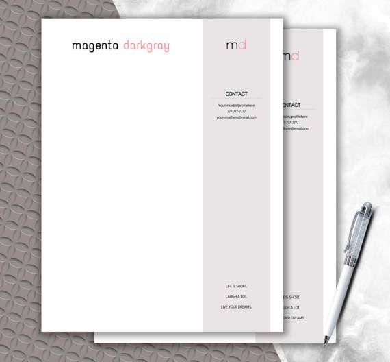 Letterhead Template  Monogram  Letterhead Design by DocumentFolder