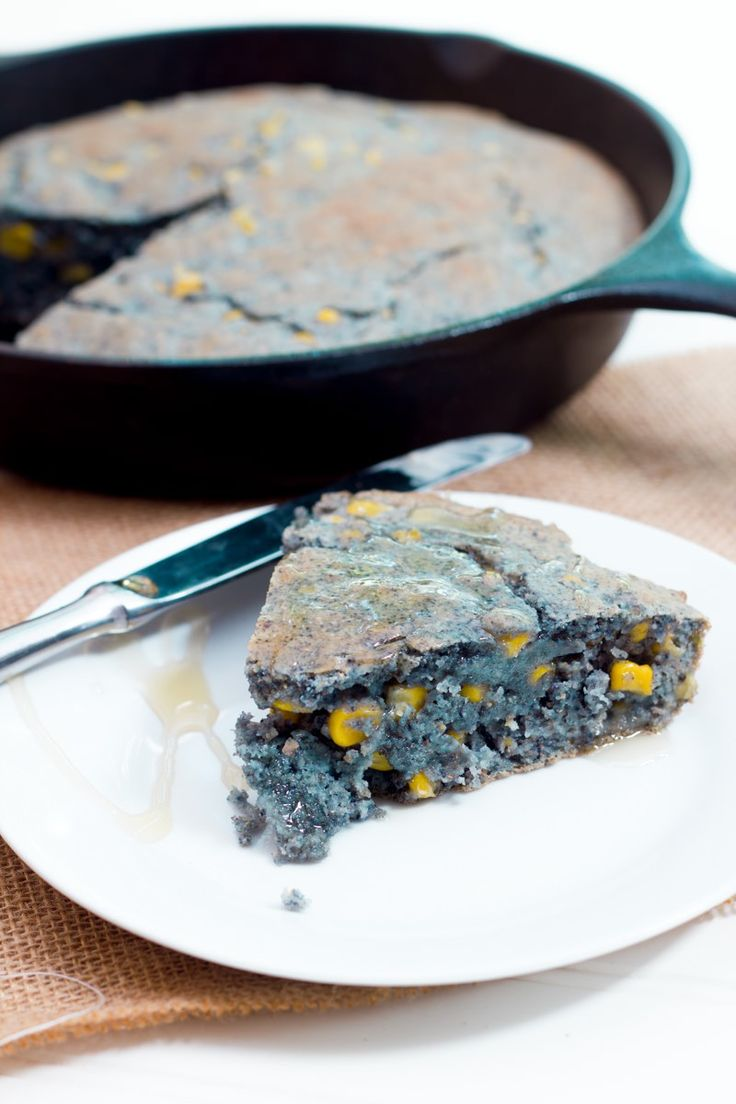 Blue cornmeal is sweeter and has a better nutritional profile than its yellow and white cousins. Try out blue cornbread in this moist and tender blue cornbread!