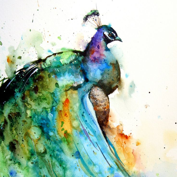 I love peacocks.  Lucky I have ultra pale skin that these colors would pop on.  Check out the other paintings by the artist @ Etsy