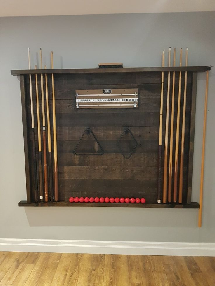 Rustic pool table accessory