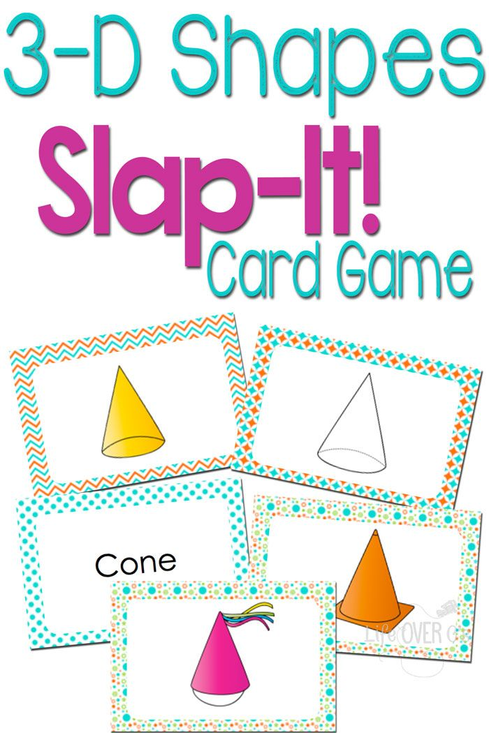 This 3D Shapes game is a super fun way to learn! Matching representations, names, real-life examples and descriptions will give your kids great practice with 3D shapes!