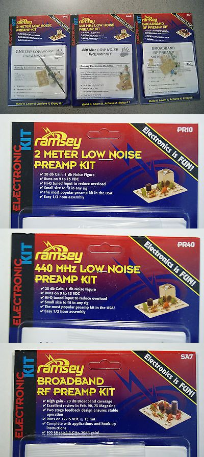 Ham Radio Receivers: Ramsey 144Mhz (2 Meter), 440Mhz (70 Cm) And Broadband Preamp Kits - New L@@K! -> BUY IT NOW ONLY: $49 on eBay!
