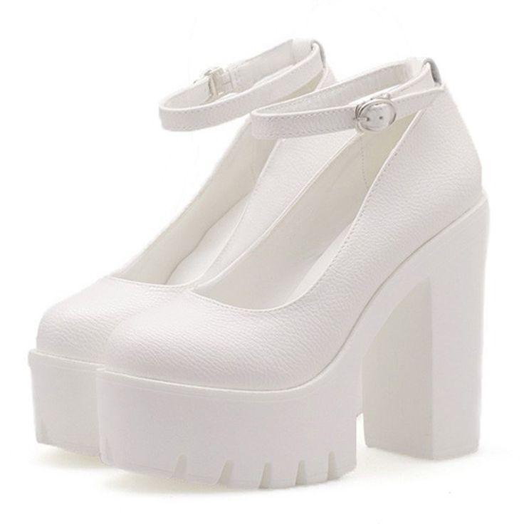 2016-mujeres-de-moda-negro-blanco-zapatos-casuales-de-tacón-alto-plataforma-tacones-gruesos-punky-del.jpg (800×800)