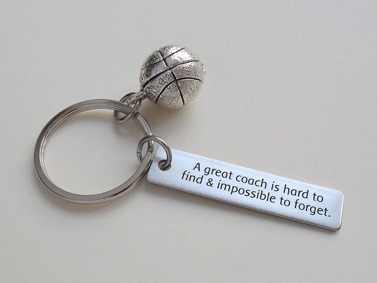 "Basketball Coach Gift - ""A Great Coach is Impossible to Forget"" – JewelryEveryday"