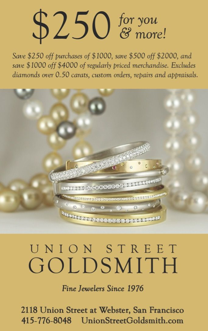 Sale almost over!  Save $250 on purchases of $1000 or more at Union St Goldsmith now through July 30.