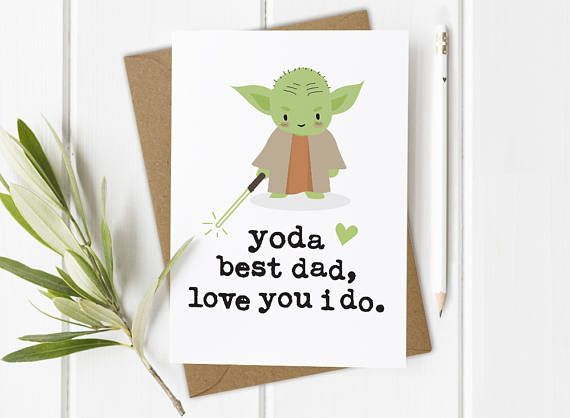 Funny Fathers Day Card Star Wars Card Funny Star Wars Card