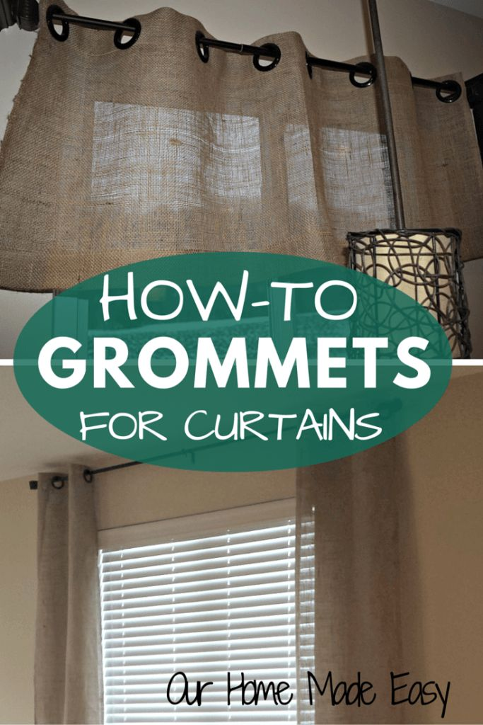 Window Treatments For Less Part - 40: Adding Grommets To Curtain Panels Is Easy And Can Be Completed In Less Than  10 Minutes