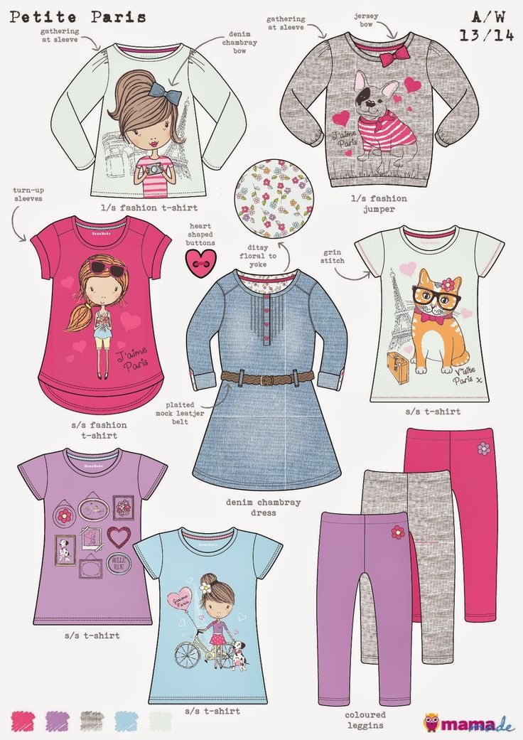 emily kiddy girlswear range boards and trends - Kids Sketches