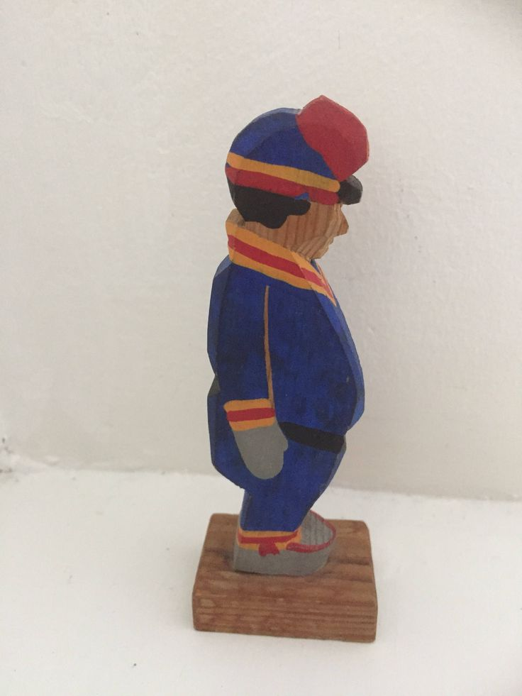 Sami/hand carved/ hand painted/aboriginal figurine/1970s by WifinpoofVintage on Etsy