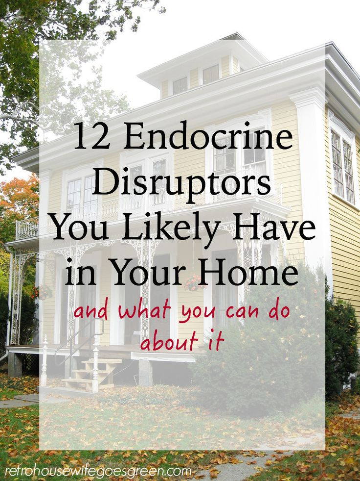 Endocrine disruptors are chemicals that can cause problems with your endocrine system. You likely have many in your home right now. Learn how to avoid them.