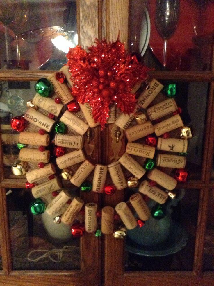 My wine cork Christmas wreath