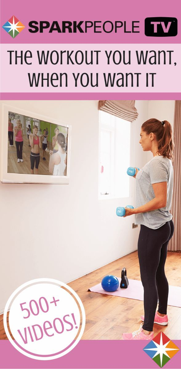 Get the workout you want, when you want it with more than 500 free workout videos at SparkPeople.TV! Search yoga, strength, cardio and more to get healthy at home!