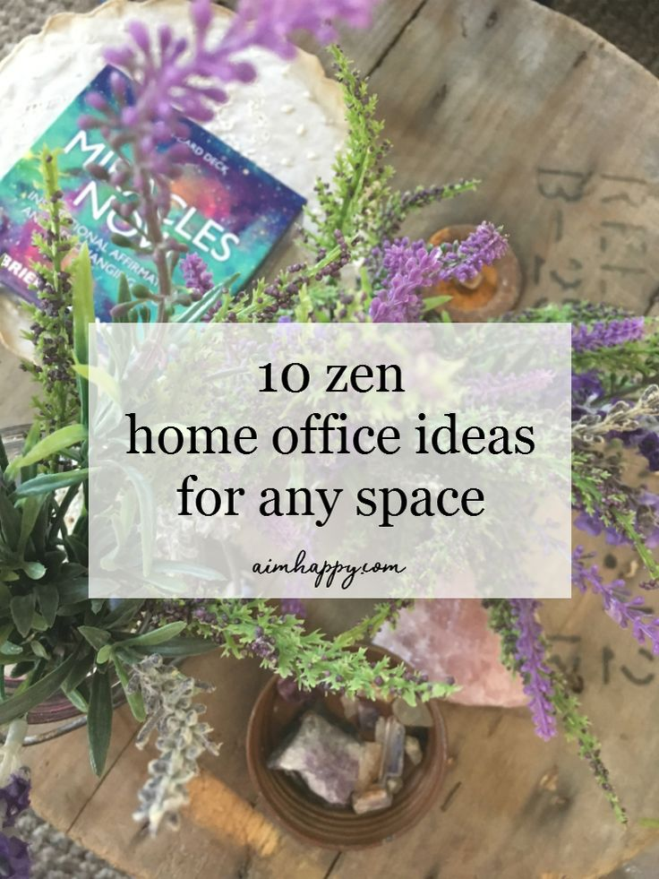 Cultivating a calm work space is conducive to productivity and helps fend off the stress that pulls you away from doing great things. Here are ten simple ways to transform your home office into a zen home office, and a space you love to be in.