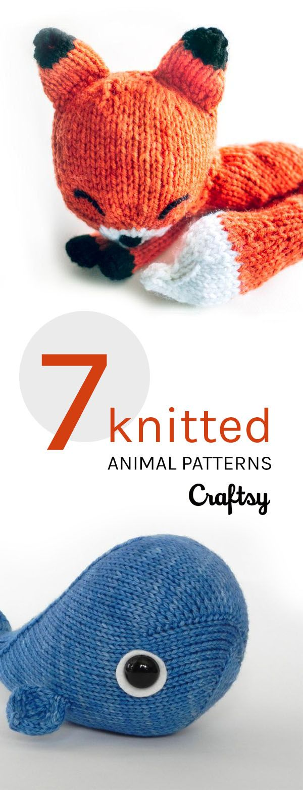 306 best knit toys images on pinterest knit stitches crochet 7 knitted animals to love bankloansurffo Image collections