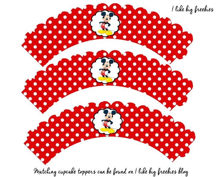 Free mickey mouse cupcake wrapper printable digital for Minnie mouse cake template free
