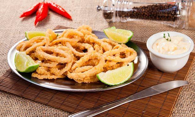Calamar calamares fritos